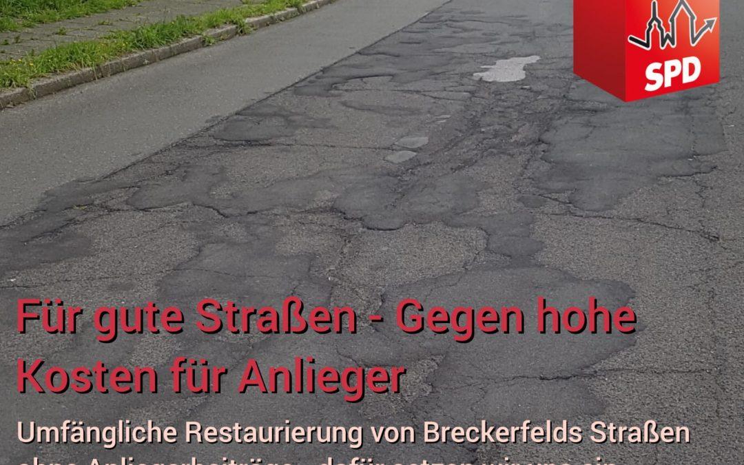 Für gute Straßen – Gegen hohe Kosten für Anlieger